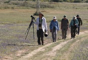 Foto de Part of our group at Dehesa de Abajo (Doñana)
